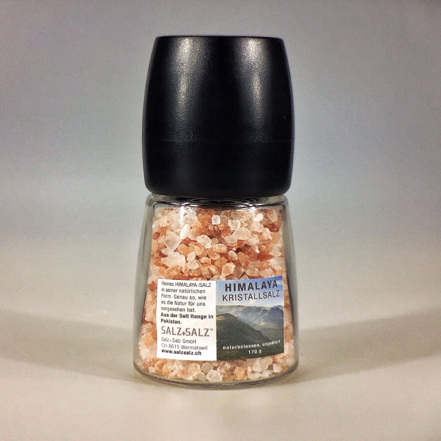 Himalayasalz in verstellbarer Salzmühle 170 g