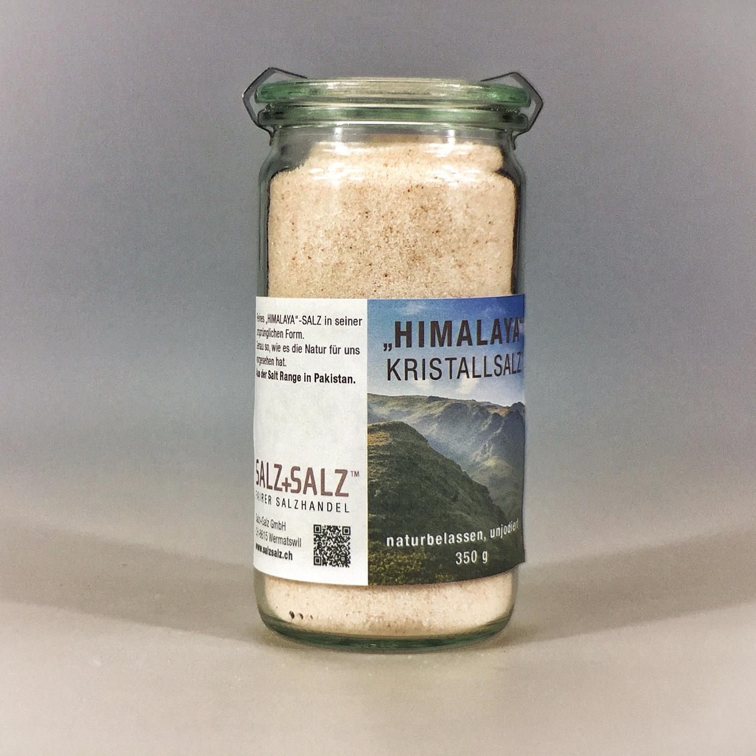 Himalayasalz fein gemahlen im Glas 350 g