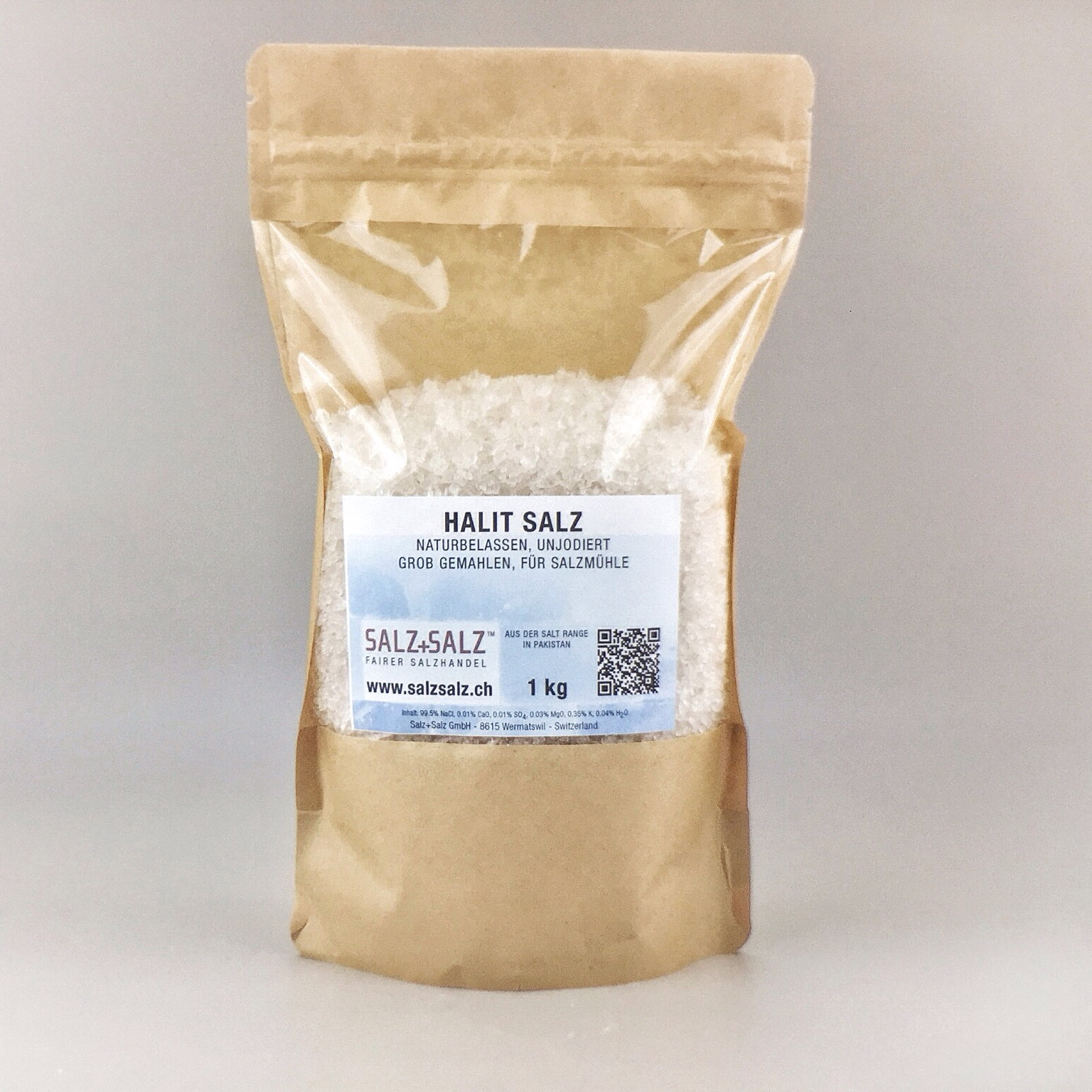 Halit Salz grob gemahlen im Papierbeutel 1k g