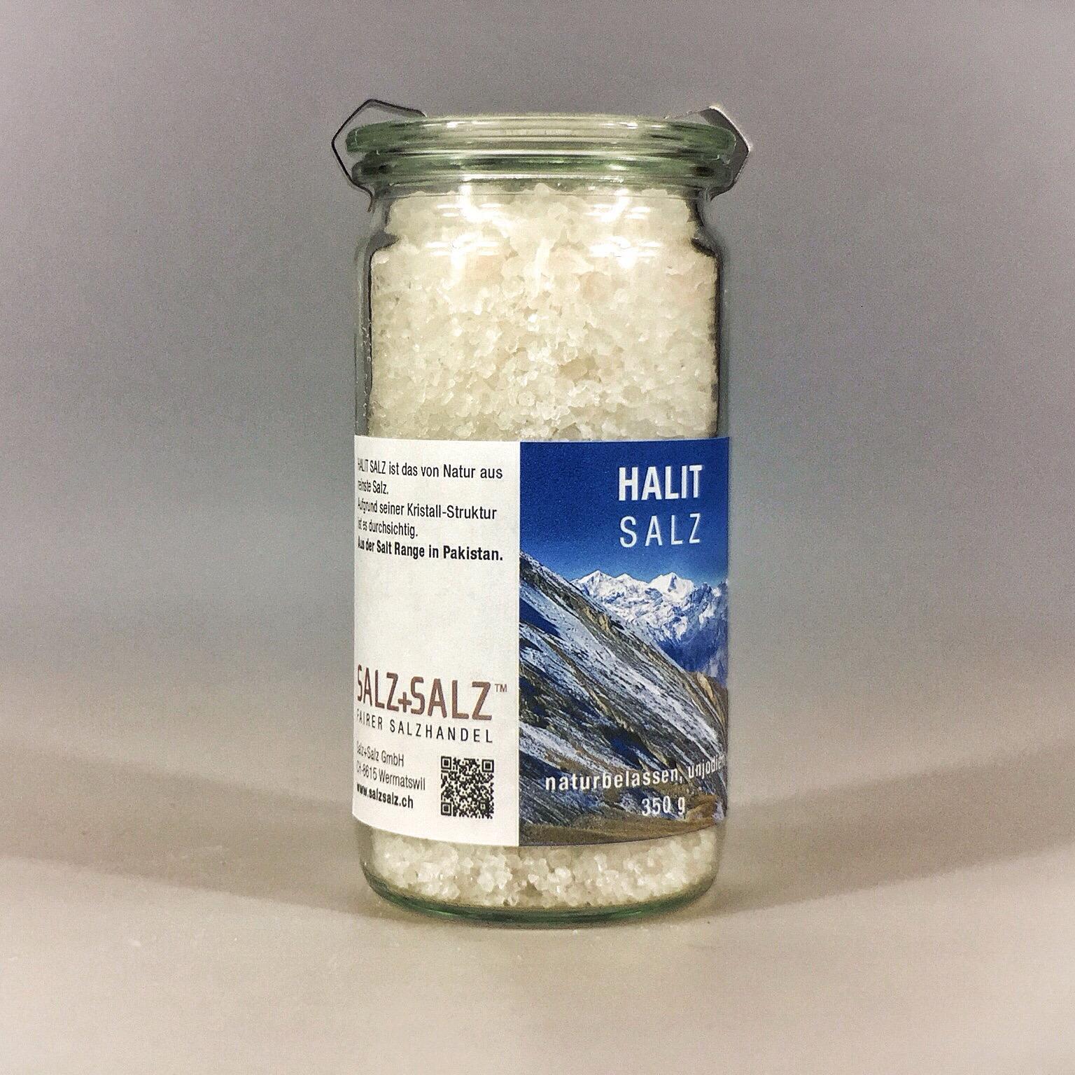Halit Salz grob gemahlen im Glas 350 g