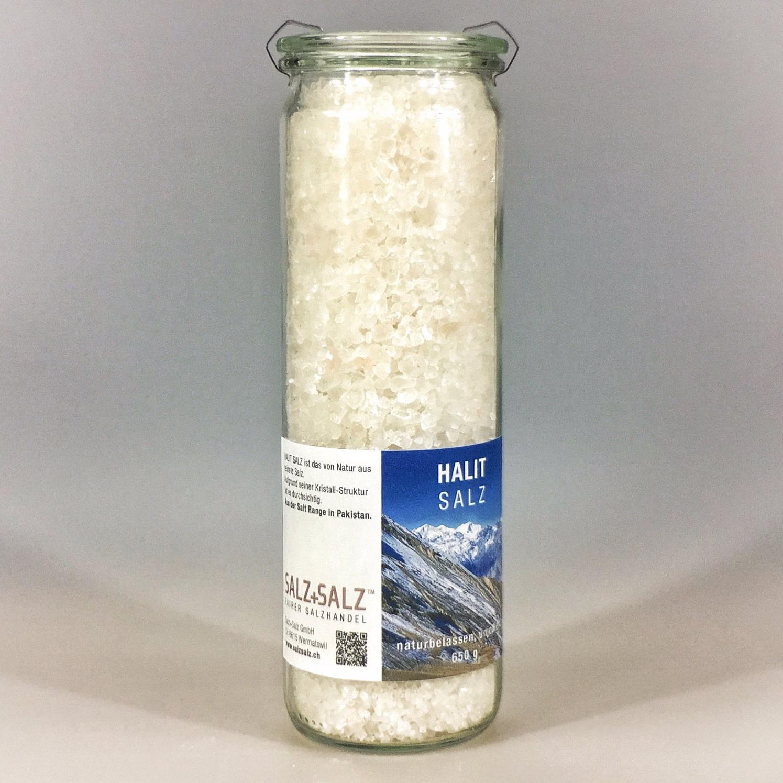 Halit Salz grob gemahlen im Glas 650 g