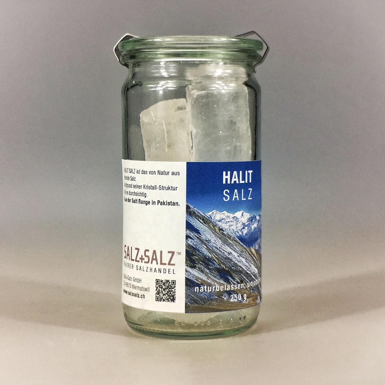 Halit Salzkristalle naturrein im Glas 250 g