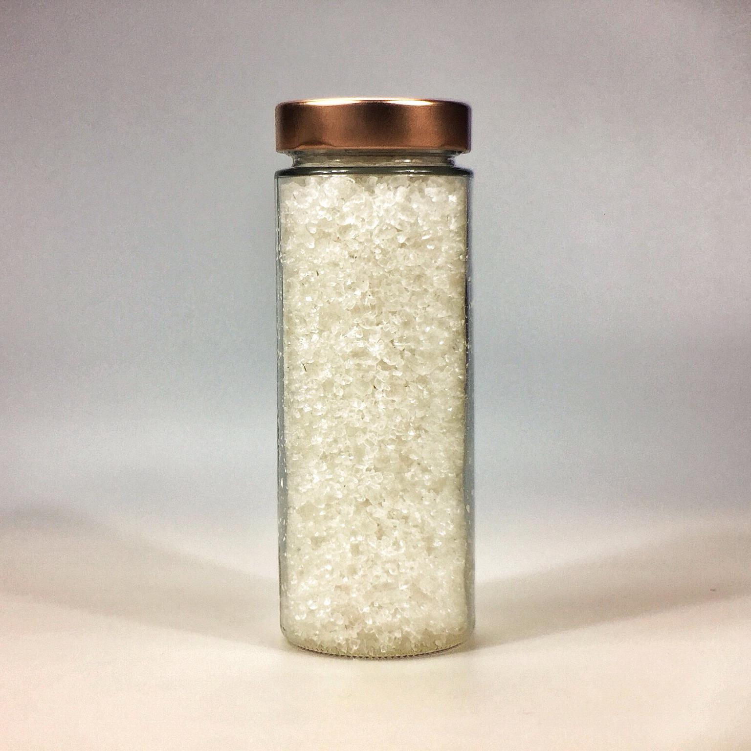 Halit Salz grob für Salzmühle im grossen Glas mit Kupferdeckel