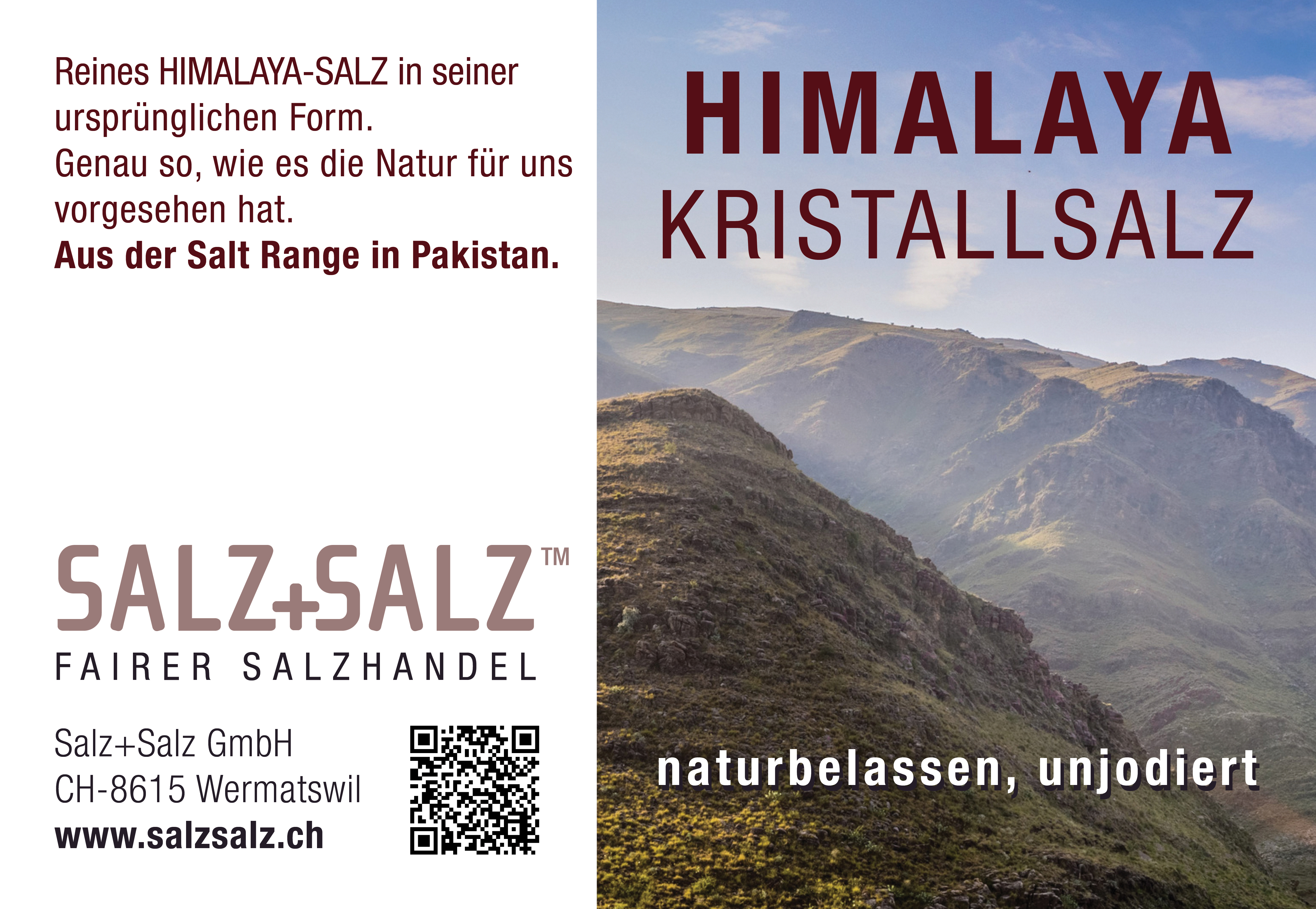 Etikette Himalaya Salz