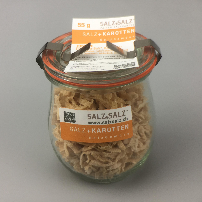 Salzgemüse Karotten im Glas 55g