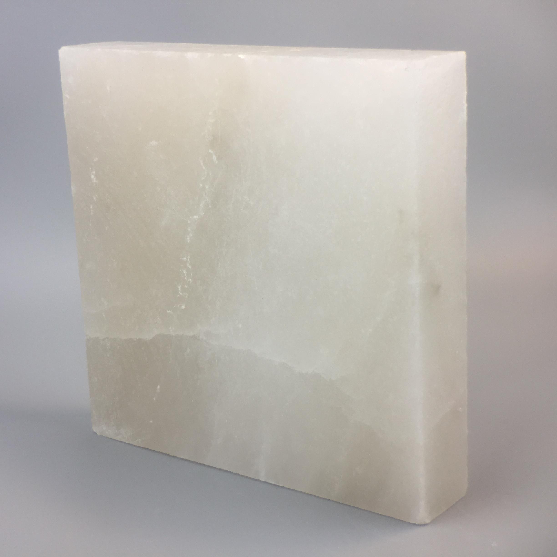 Himalaya Salzplatte weiss 25x25x5cm